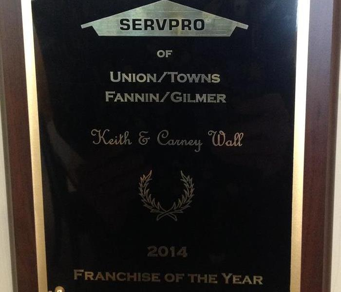 General 2014 Georgia SERVPRO Franchise of the Year